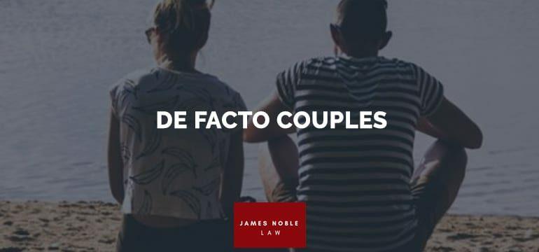 DE FACTO COUPLES