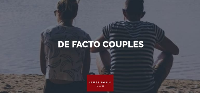 DE FACTO COUPLES
