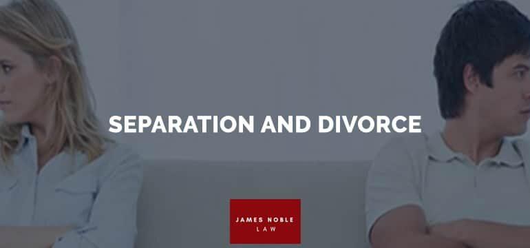 SEPARATION DIVORCE