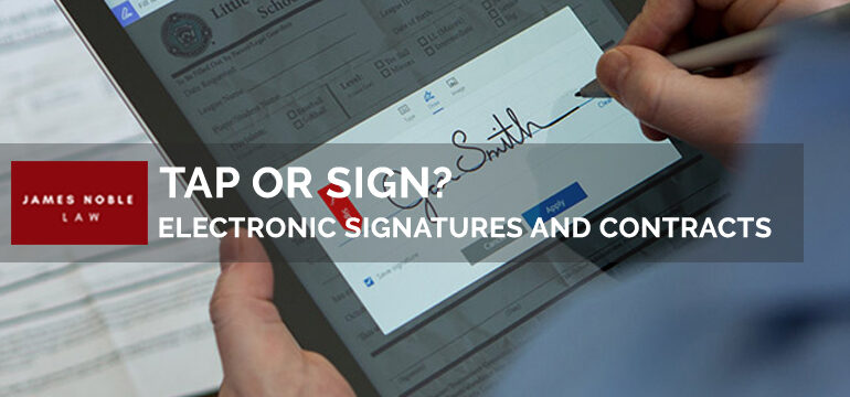 Tap or Sign Electronic Signatures and Contracts