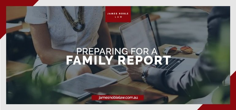 family report writer questions, preparing family report
