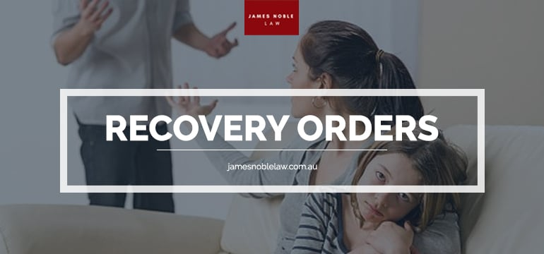 Recovery Orders,General Law