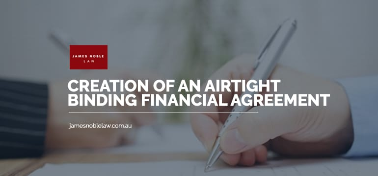Binding Financial Agreements