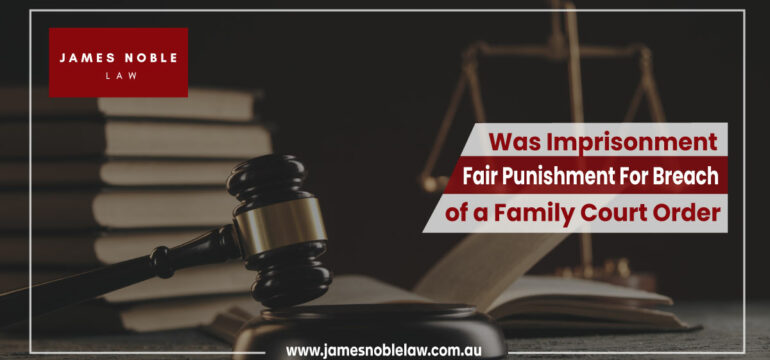 Breach of a Family Court Order