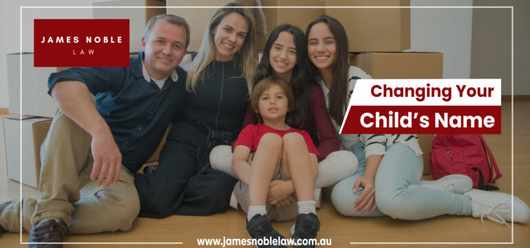 changing a child's name qld